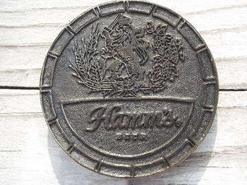 Hamm's beer belt buckle, vintage Wyoming Studio cast metal belt buckle