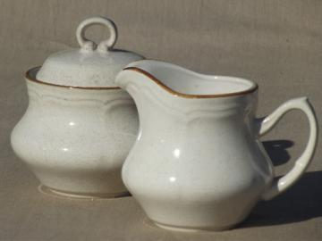 Hearthside Baroque stoneware cream & sugar set, vintage Japan dinnerware