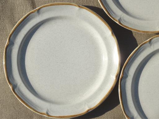 Hearthside Baroque Stoneware Salad Plates Set Vintage
