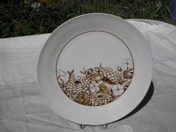 Hippie vintage danish modern Bramble wildflowers serving plate, Anita Wagenvoud