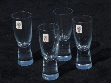 Holmegaard Denmark danish modern crystal vodka cordial glasses, Scanada
