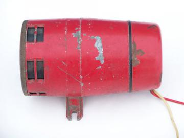 Hotrod vintage police/fire engine truck siren, works w/old red paint