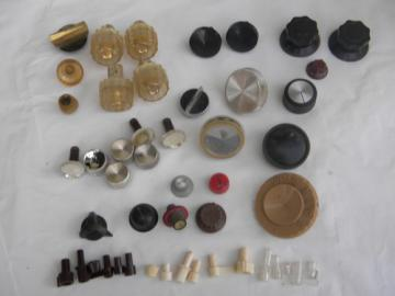 Huge estate lot assorted radio/instrument knobs for restoration/parts