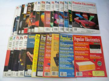 Huge lot 1980s vintage Popular Electronics magazines full year+