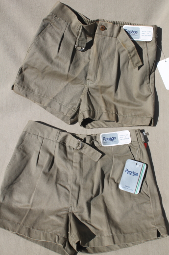 Huge lot 70s 80s vintage deadstock tennis shorts, new w/ tags assorted boys sizes