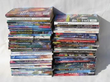 Huge lot 80s&90s retro vintage sci-fi magazines Isaac Asimov/Analog
