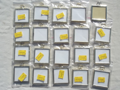 huge lot new old stock tiny frames for cross stitch needlework ornaments