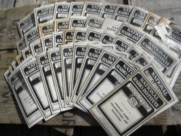 Huge lot of 1920s National Radio Institute technical booklets, schematics+