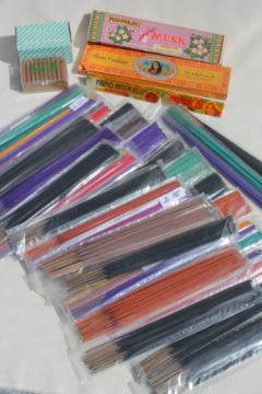 Huge lot of incense sticks & cone incense, many different varieties