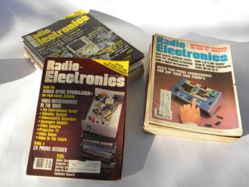Huge lot of retro 1980s vintage Radio-Electronics magazine w/DIY projects