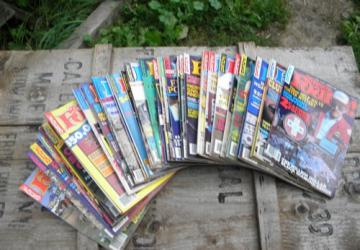 Huge lot old Treasure Found! magazines, full years 1980s back issues