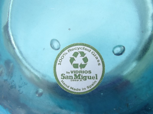 Huge Spanish Urn Floor Vase In Aqua Blue Eco Friendly
