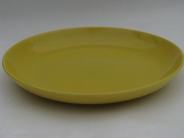 Huge vintage Pacific pottery bowl, smooth art deco shape canary yellow