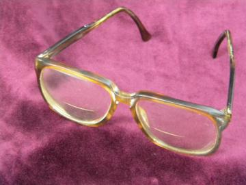 Industrial vintage SRO eye glasses frames, machine age vintage