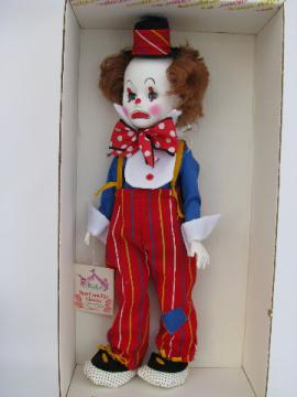 Jethro clown doll, mint in vintage Effanbee box