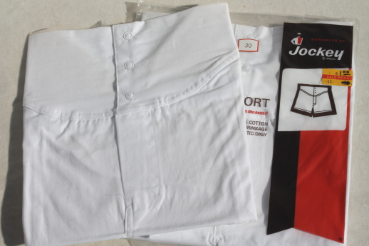 Jockey gripper shorts, 100% cotton boxer undershorts size 30, 80s vintage new old stock underwear