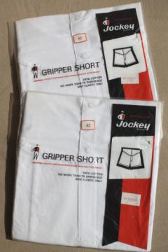 Jockey gripper shorts, 100% cotton boxer undershorts size 42, 80s vintage new old stock underwear