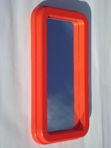 Kartell Vintage 70s Italian Design Plastic Mirrors Retro