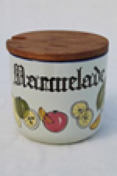 Knabstrup Denmark stoneware Marmalade jar, danish modern vintage pottery