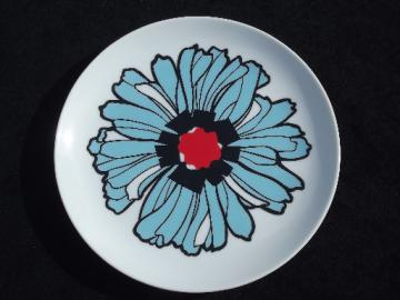 Langenthal Meroe mod flower vintage Swiss porcelain plate, 70s  retro