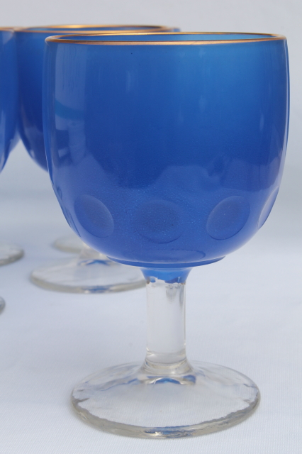 Large Hoffman House Style Glass Goblets Vintage Water