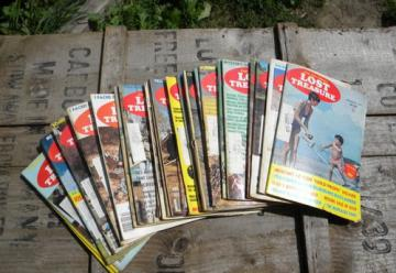 Large lot 1970s back issues  Lost Treasure magazines, full years