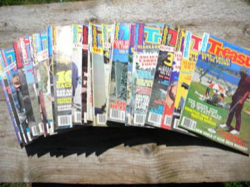 Large lot of old 1980s Treasure magazines back issues full years metal detecting