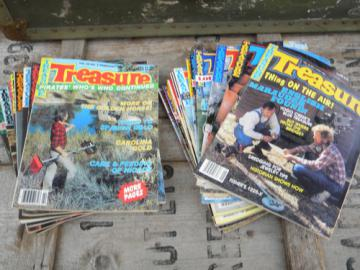 Large lot vintage 1980s Treasure metal detecting magazines