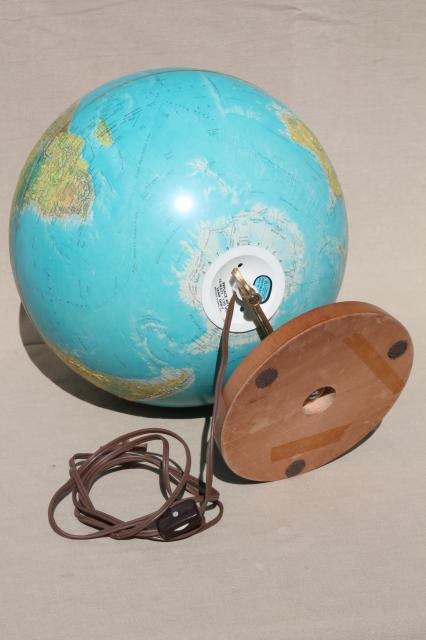 lighted vintage world globe w/ Soviet era map, World Horizon Replogle