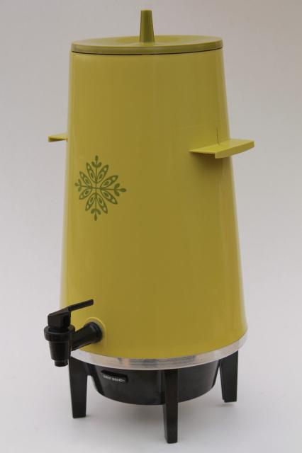 Lime Green 70s West Bend 20 Cup Pot Electric Coffee Maker Party