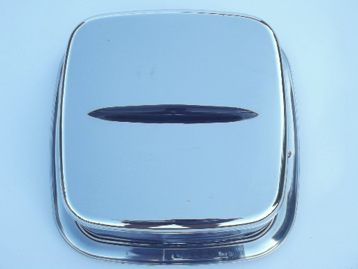 Lincoln beautyware vintage chrome cake carrier cake cover latching plate