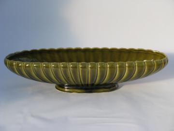 Long low mod flower bowl, vintage Floraline McCoy pottery planter