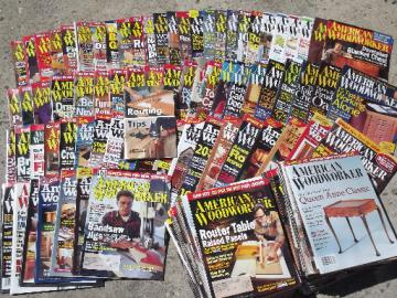 Lot 100+ American Woodwork magazines back issues woodworking projects