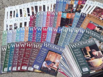 Lot 100+ Woodwork magazines back issues woodworking patterns projects