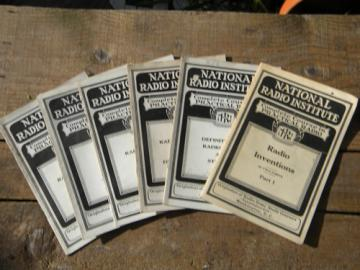 Lot 1920s radio technology books w/illustrations National Radio Institute