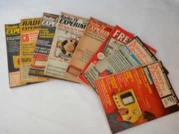 Lot 1960s vintage Science and Electronic/Radio-TV Experimenter magazines
