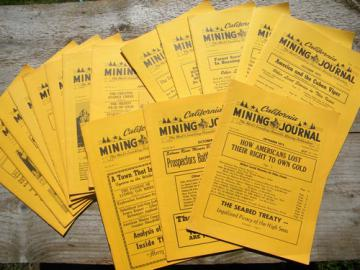 Lot 1970s California Mining Journal back issues gold, prospecting etc.