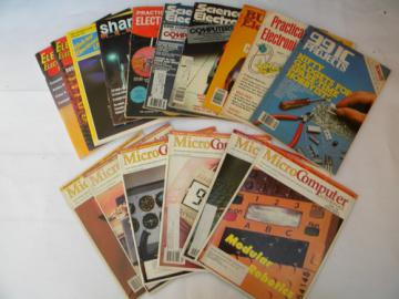 Lot 1980s/1990s vintage assorted Electronic & PC computer magazines