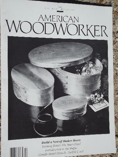 Lot 25 American Woodwork Magazines 80s Back Issues Woodworking Projects