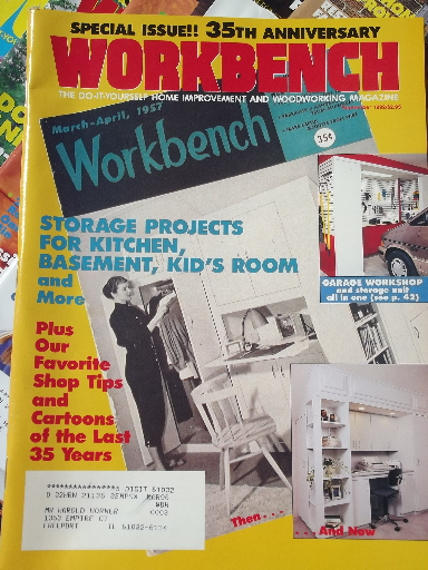 Lot 50 Workbench Magazines 80s 90s Back Issues Woodworking Projects