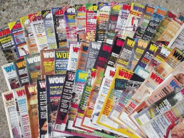 Lot 50+ Workbench magazines 80s 90s back issues, woodworking projects