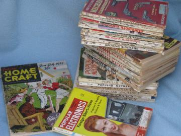 Lot 50s vintage DIY magazines Popular Mechanics/Mechanics Illustrated