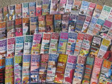 Lot 68 back issues Machine Knitting News pattern magazines