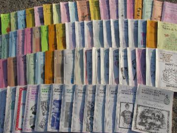 Lot 72 back issues Knitting Machine News & Views pattern magazines