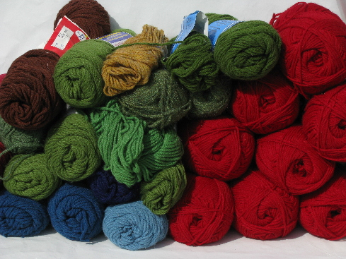 Lot acrylic yarn, 4 lbs assorted fall colors knitting/crochet skeins