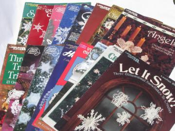 Lot crochet patterns, lace snowflakes, angels, Christmas ornaments