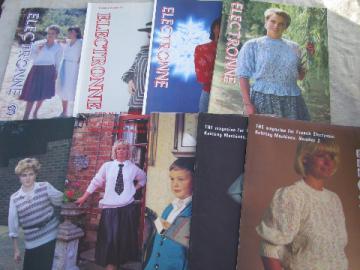 Lot Electronne knitting machine pattern magazine back issues