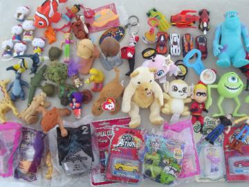 Lot Happy Meal toys and other small toys, Burger King, Cracker Barrel etc.