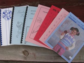Lot knitting machine books, baby things and children's sweater patterns