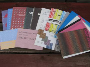 Lot knitting machine books, instructions and manuals assorted machines